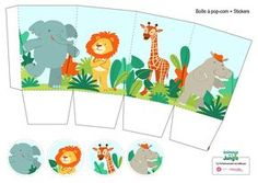 A series of Birthday Kits I made for the website www.familiscope.fr . Each kit contains five printable pages with characters, stickers, tags, an invitation, a popcorn box and a surprise party box, under different themes. Afterwards, the Familiscope team h…