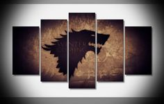 5 Piece Multi Panel Modern Home Decor Frame Game of Thrones Stark Wall Canvas Art Canvas Poster, Poster Wall, Canvas Frame, Framed Wall Art, Canvas Wall Art, Canvas Size, Game Of Thrones Canvas, Game Of Thrones 5, Game Of Thrones Poster