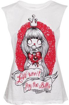 NewBreed Girl Love Won't Pay Slash Women's Vest, £19.99  http://www.attitudeclothing.co.uk/product_33008-61-1811_NewBreed-Girl-Love-Won%27t-Pay-Slash-Women%27s-Vest.htm