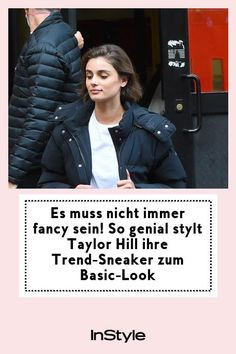 Es muss nicht immer fancy sein! Taylor Hill zeigt, wie man einen Basic-Look zu kultigen Trend-Sneakers richtig stylt. #instyle #instylegermany #sneaker #trend #taylorhill