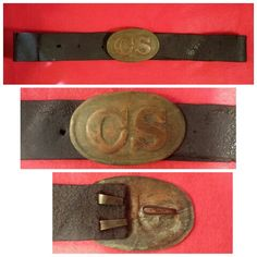 Ultra rare double struck non-excavated Breckinridge style large oval CS waist belt plate on original leather belt. This Confederate belt rig was originally purchased by David Williams about 30 years ago out of an Abilene, Texas, estate. According to family information, their ancestor had served with Wharton's 8th Texas Rangers during the Civil War. This belt rig was part of Dr. Rees Buttram's collection for many years, and for a number of years was on display in the Tennessee Museum at…