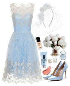 """""""Something old, Something new, Something borrowed and Something BLUE"""" by prettyorchid22 ❤ liked on Polyvore featuring Dorothy Perkins, Accessorize, Gianvito Rossi, Chanel, Clinique, New Growth Designs, Blue Nile and Retrò"""