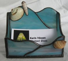 Stained Glass Business Card Holder by StainedGlassBeauties on Etsy