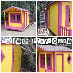 Pallet cubby house .... looks great!