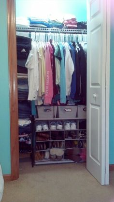Organized small closet :)