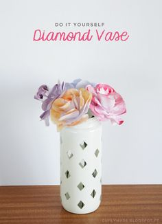 Curly Made: DIY Diamond Vase