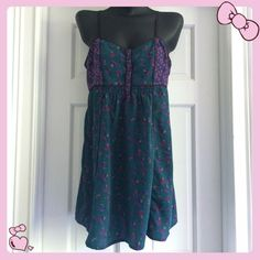 Ecote for Urban Outfitters  Dress Size Size M 100% Polyester.  Adjustable Straps.  Size M.  Ecote Dress for Urban Outfitters. Urban Outfitters Dresses