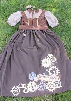 diy steampunk costume women Steampunk Costume Women, Steampunk Cosplay, Steampunk Diy, Handmade Halloween Costumes, Halloween Sewing, Steampunk Accessories, Family Costumes, Vest Pattern, Iron On Vinyl