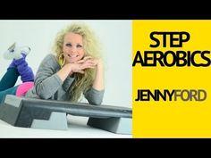 ▶ Step Aerobics Fitness Cardio Workout - Jenny Ford - YouTube (43 minutes. Dancier steps)