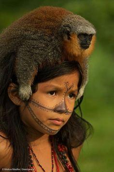 Munduruku-Kind ( © Markus Mauthe / Greenpeace )