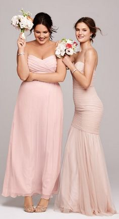 Blush bridesmaid dresses @ Nordstrom