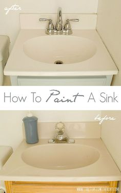 Hometalk:  How To Paint A Sink - When the budget isn't ready to replace -- REFRESH with epoxy paint!