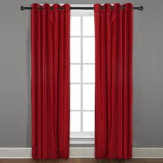 Grand Luxe Merlot Braxton Grommet Curtain Panel More