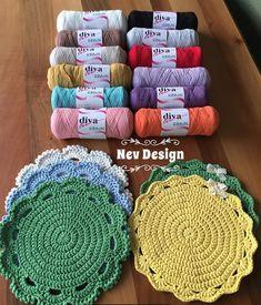 Image gallery – Page 575827502353484306 – Artofit Crochet Potholder Patterns, Crochet Squares, Crochet Round, Crochet Home, Crochet Mandala, Crochet Doilies, Button Hole Stitch, Hemp Yarn, Stained Glass Flowers