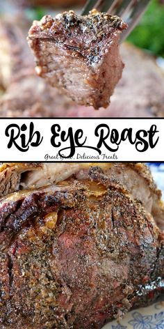 Rib Eye Roast is a delicious roast to serve during the holidays. Rib Eye Roast is a delicious roast to serve during the holidays. Bone In Ribeye Roast, Roast Brisket, Beef Tenderloin, Grilled Roast Beef, Rib Roast Recipe, Prime Rib Recipe, Roast Recipes, Game Recipes, Sauces