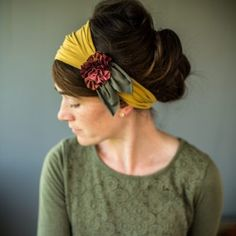 Garlands of Grace Katherine Acorn Trails Rosette headwraps Vintage Headbands, Handmade Headbands, Headband Hairstyles, Diy Hairstyles, Hair Inspo, Hair Inspiration, How To Wear Headbands, Turbans, Hair Wrap Scarf