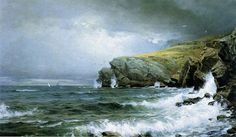 Seascape. Coast of Maine - William Trost Richards (1887)