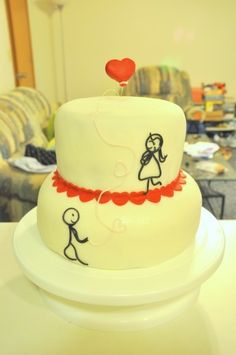 adorable stick figure cake