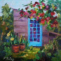 Garden Shed by Paula Riley ~ 8 x 8