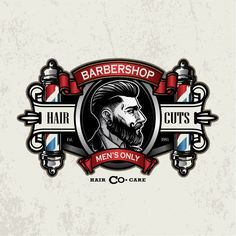Barber Pole Vectors, Photos and PSD files Barber Poster, Barber Logo, Barber Shop Interior, Barber Shop Decor, Logo Barbier, Beard Barber, Gents Hair Style, Barber Haircuts, Barbershop Design