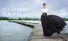 Nora Ördög for Instyle Sept issue Strapless Dress Formal, Formal Dresses, One Shoulder, My Style, Cover, Fashion, Dresses For Formal, Moda, Formal Gowns