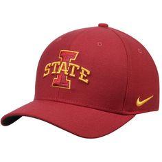 timeless design b82d7 c5617 Men s Nike Cardinal Iowa State Cyclones Swoosh Performance Flex Hat