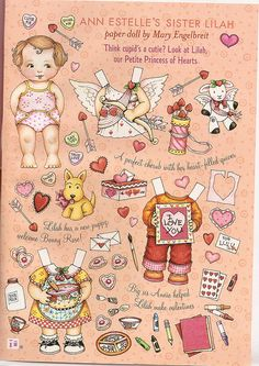 Ann Estelle sister paper doll Lilah 1 by Lagniappe*Too, via Flickr