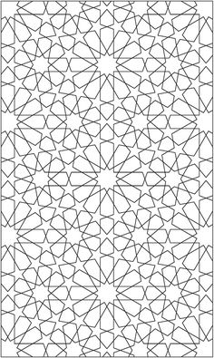 free sample coloring page from Creative Haven Alhambra Designs Coloring Book