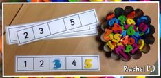 from Rachel (lots of great free Math printables for early counting skills) Numbers Preschool, Math Numbers, Learning Numbers, Kindergarten Math, Teaching Math, Preschool Activities, Maths Eyfs, Numeracy Activities, Math Classroom