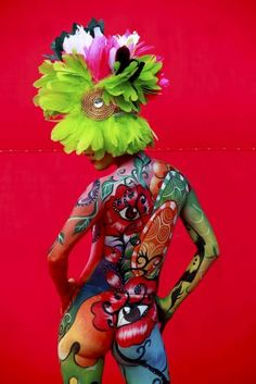 The Daegu International Body Painting Festival 2012 in South Korea                                                                                                                                                                                 More