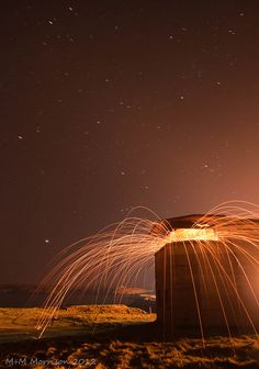 M+M Morrison + Burning Lookout! | light + light painting + brown orange yellow