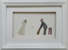 pebble art pebble pictures Bride & Groom Wedding Portraits created from sea glass & stone https://www.facebook.com/cornwallpebbleart/