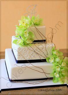 Cakes by Maylene: Some Sparkle and Swirls Wedding Cake