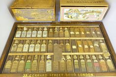 File:Aromatic oils from India, 48 samples, Great Exhibition in London, - Tekniska museet - Stockholm, Sweden - Esential Oils, Small Figurines, Aromatherapy Oils, Body Treatments, Natural Cosmetics, Organic Skin Care, Doterra, Diy Beauty, Home Remedies