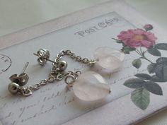 Semi Precious Rose Quartz Facet Cut Heart by RoseTeaAndRabbit