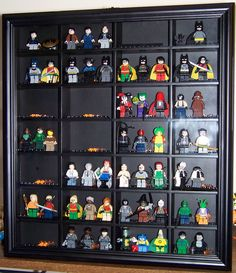 Cute for a boy room or play room LEGO - mini fig display case