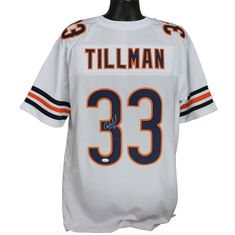 1d7a017b678 Charles Tillman Autographed Chicago Bears White Custom Jersey w/ JSA COA
