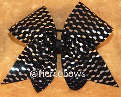 Black and Silver Cheer Bow on Etsy, $10.00