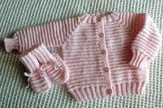 Baby Raglan Sweater Knitting Pattern @ http://www.knittingonthenet.com/patterns/babysweraglangarterstripe.htm#