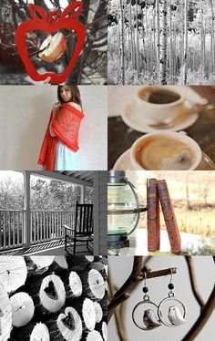 A good book, a cup of coffee, and some bird watching on the porch #etsy #treasury