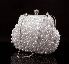 women's wedding Pearls handbag