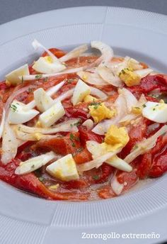 Zorongollo extremeño Vegetable Recipes, Vegetarian Recipes, Healthy Recipes, Real Food Recipes, Cooking Recipes, Yummy Food, Tapas, Le Chef, Saveur
