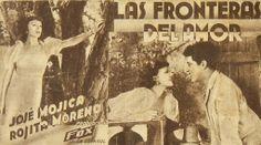 """Programa de mano de cine de la película """"Las fronteras del amor"""", estrenada en España en el año 1934"""