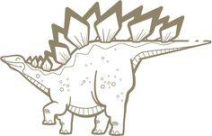 Kit Stickers Dinosaures - Stickers Muraux Bébés & Enfants E-Glue - Deco Murale Chambre Enfant