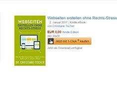 """Gratis: eBook: """"Webseiten erstellen ohne Rechts-Stress"""" https://www.discountfan.de/artikel/lesen_und_probe-abos/gratis-ebook-webseiten-erstellen-ohne-rechts-stress.php Als Taschenbuch kostet es 14,95 Euro, als eBook ist es jetzt bei Amazon für kurze Zeit komplett gratis zu haben: Der Titel """"Webseiten erstellen ohne Rechts-Stress"""" ist derzeit für 0 Euro im Angebot. Gratis: eBook: """"Webseiten erstellen ohne Rechts-Stress"""" (Bild: A... #Ebook, #Gratis,"""