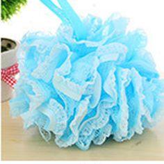 1 PCS Bleu Boule De Bain Fleur De Bain Baignoires Balle Serviette Lavage Du Corps de Nettoyage de Lavage de Maille Net Éponge Pour Douche Salle De Bains accessoires