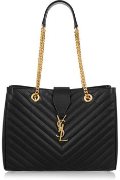 Saint Laurent   Monogramme quilted leather shoulder bag        $2,650