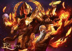 Baladeva - Lord Brahma by ellinsworth on DeviantArt Aghori Shiva, Hanuman, Durga, The Dark World, Lord Vishnu, Comic Panels, Gods And Goddesses, Anime Outfits, Deities