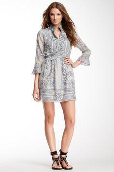 Lily Border Print Gauze Shirt Dress by Anna Sui on @HauteLook