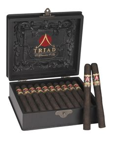 Gurkha's Triad Platinum. A gorgeous 10 - year Connecticut Ecuadorian wrapper that just shines with excellence accompanied by a 7 - year Dominican binder and a 7 - year Nicaraguan/Honduran filler. The cigars are encased within an antique looking box of perfection.